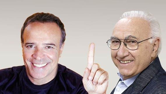 Enrico Montesano e Pippo Baudo