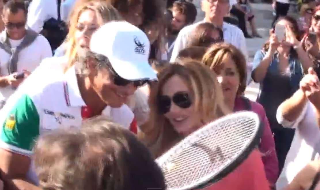 Fiorello e Lorella Cuccarini - Tennis & Friends