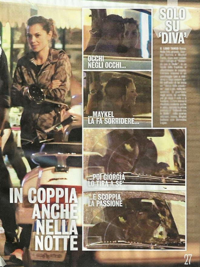 Giorgia Surina, bacio con Maykel Fonts (Diva e Donna)