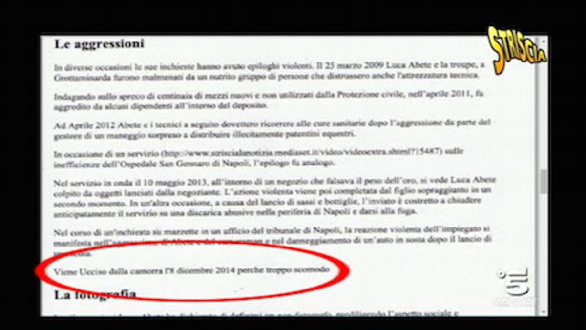 Luca Abete Per Wikipedia Ucciso Dalla Camorra Davidemaggio It