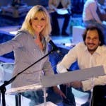 Antonella Clerici e il maestro De Amicis