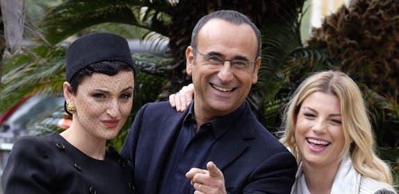 Arisa - Carlo Conti - Emma al Festival di Sanremo 2015