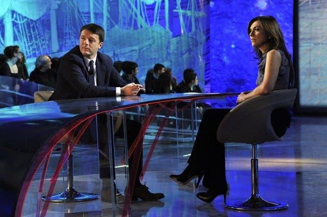 Le Invasioni Barbariche - Daria Bignardi e Matteo Renzi