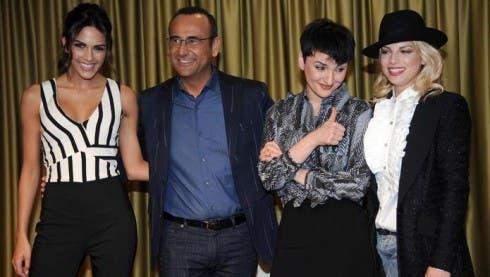 Rocio Munoz Morales, Carlo Conti, Arisa ed Emma