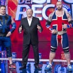 Gerry Scotti con Zydrunas e Thor