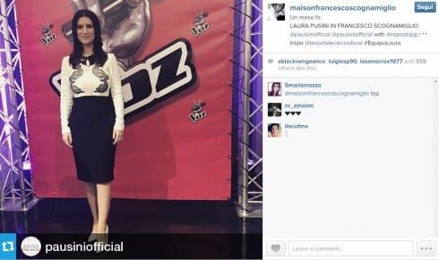Francesco Scognamiglio, lo stilista che vestirà Emma, ha vestito Laura Pausini