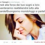 Anna Tatangelo in partenza per Sanremo