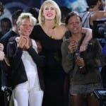 Alessia Marcuzzi con le Donatella)