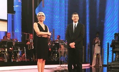 Maria De Filippi e Fabrizio Frizzi