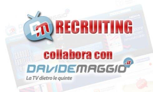 Davide Maggio cerca nuovi blogger TV
