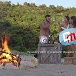 Isola Adamo ed Eva - puntata 3 - Er Lattina (Riccardo Vallone) con Francesca e Pamela-1