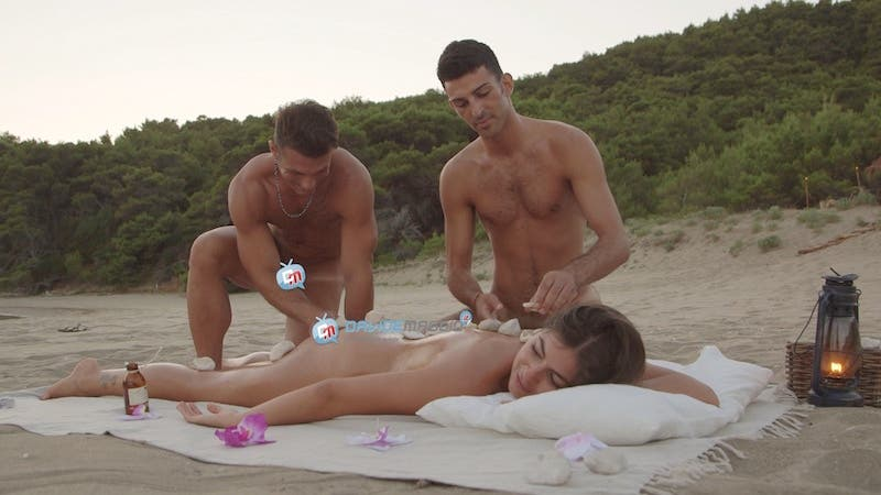 Isola Adamo ed Eva - puntata 4 -  Gianluca Gargiulo - Andrea Lucà - Nicole Limonta massaggio