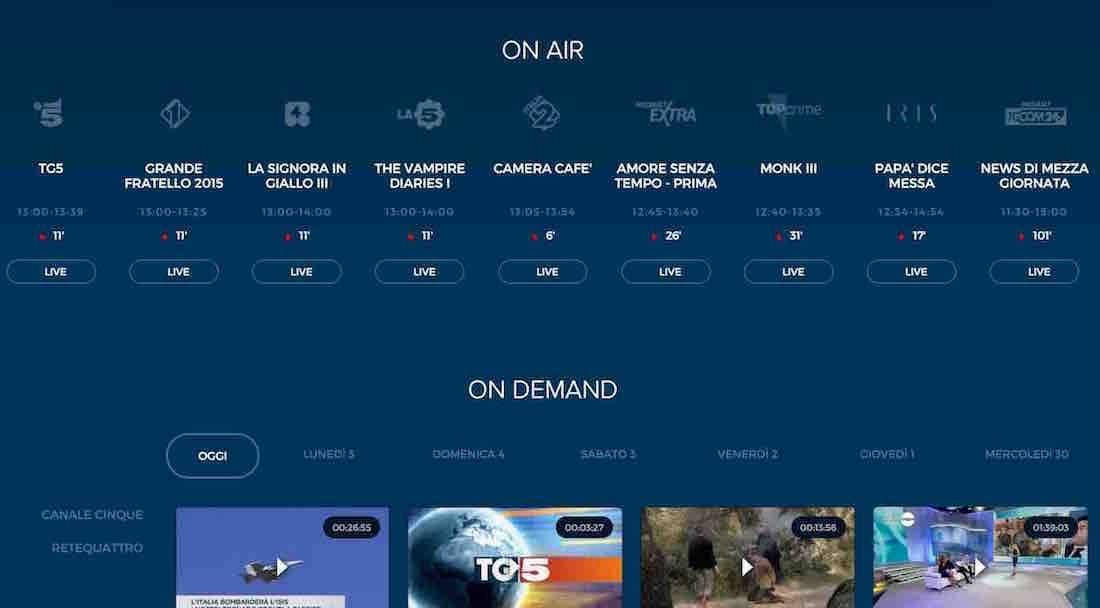 Mediaset - Streaming