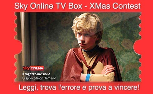 Sky Online TV Box Xmas Contest - Il Ragazzo Invisibile