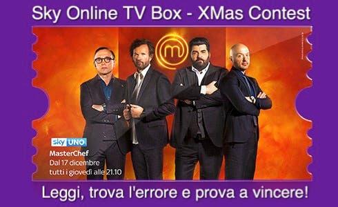 Sky Online TV Box Xmas Contest - Masterchef