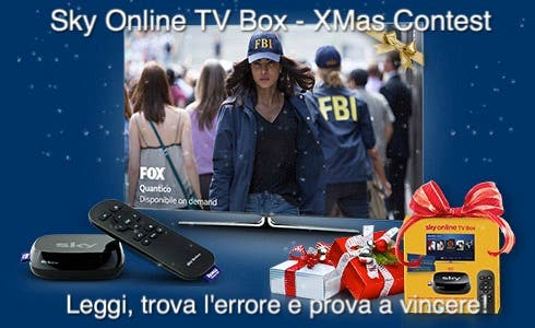 Sky Online TV Box Xmas Contest - Quantico