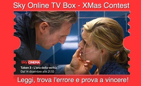 Sky Online TV Box Xmas Contest - Taken 3