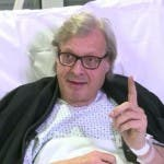 Vittorio Sgarbi in ospedale