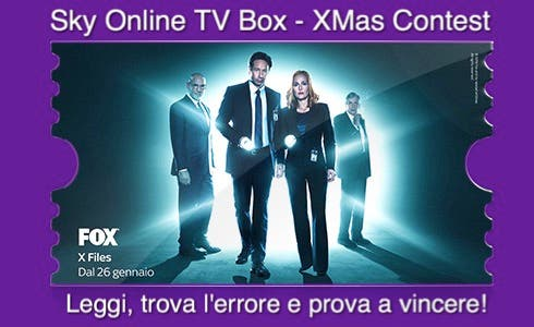 Sky Online TV Box Xmas Contest - X Files
