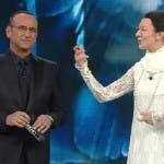 Carlo Conti e Carla Fracci (Virginia Raffaele)