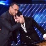 Sanremo 2016 - Carlo Conti con Ezio Bosso