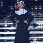 Virginia Raffaele imita la suora Belen