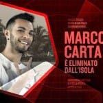 Isola Dei Famosi 2016 - Marco Carta eliminato