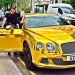 Giovanni Santoro con la sua auto