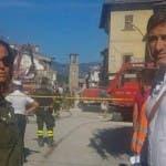 Parodi e Liorni arrivano ad Amatrice (da Instagram)