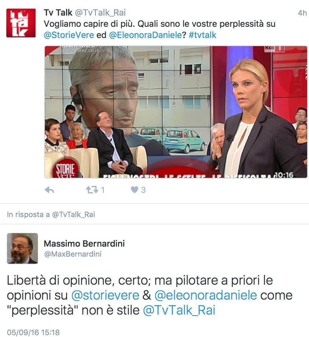 Bernardini vs TvTalk