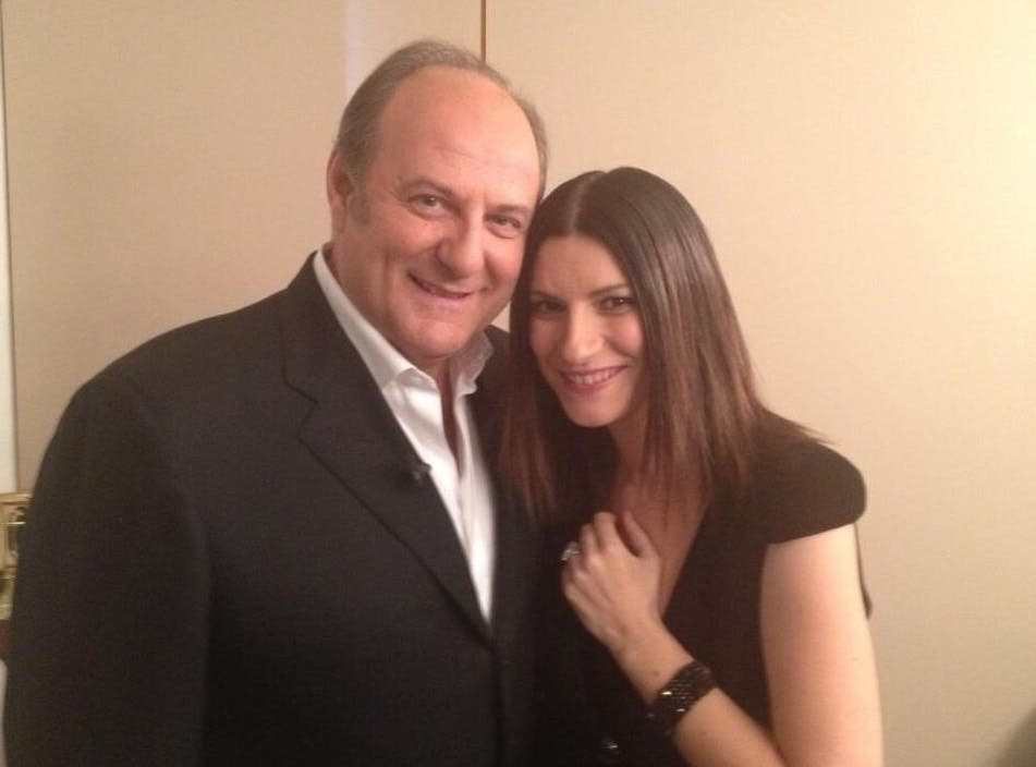 Gerry Scotti e Laura Pausini