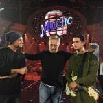 Paolo Bonolis con Benji e Fede