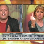 Dalla vostra parte, Alessandra Mussolini vs Daniele Martinelli