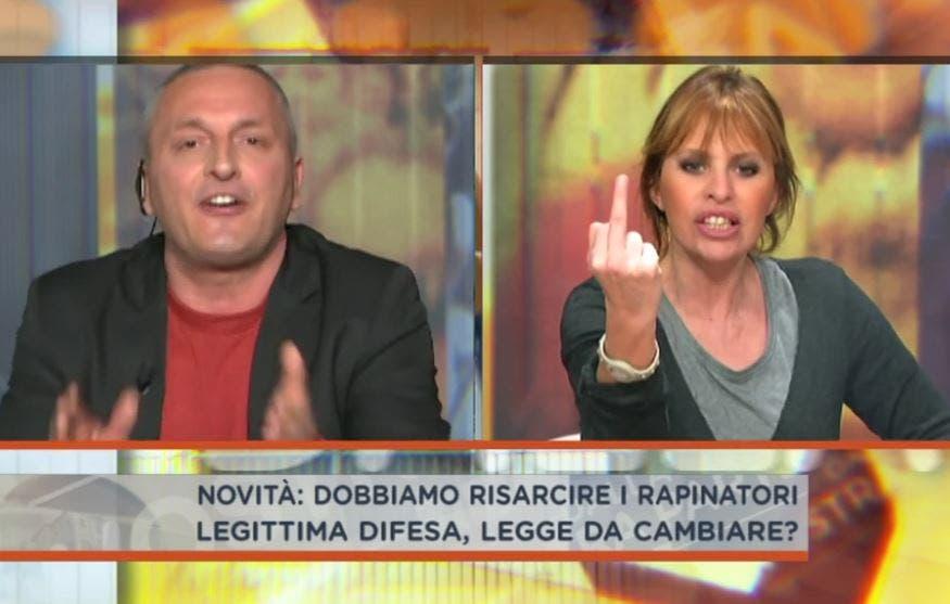 Dalla vostra parte | Alessandra Mussolini vs Daniele