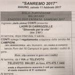 Scaletta Finale