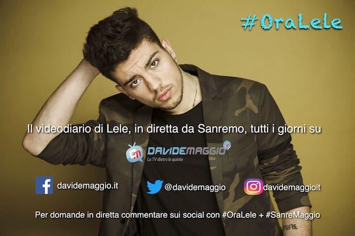 #OraLele, videodiario di Lele in diretta da Sanremo
