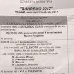 Scaletta Festival di Sanremo 2017 seconda serata