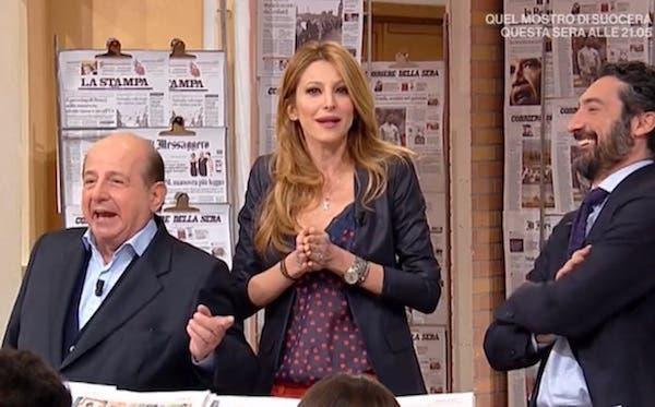 """I Fatti Vostri – Giancarlo Magalli vs Adriana Volpe: ieri il battibecco in tv (""""sei una rompipalle"""") e sui social, oggi la quiete. Video"""