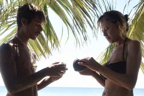 Moreno ed Eva Grimaldi sull'Isola dei Primitivi