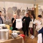 Cannavacciuolo e Carla Gozzi a Villa Rugantino