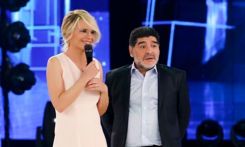 Maria De Filippi e Diego Armando Maradona ascolti amici