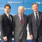 Mediaset - Piersilvio Berlusconi, Fedele Confalonieri, Giuliano Andreani