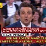Striscia la Notizia, Flavio Insinna fuori onda