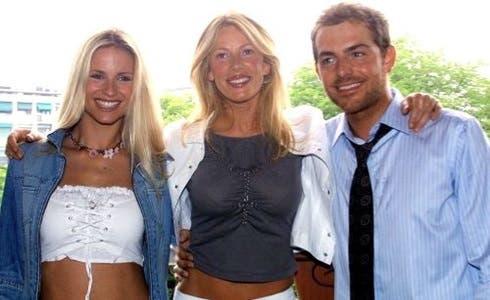 Michelle Hunzicher, Alessia Marcuzzi, Daniele Bossari - Festivalbar 2002