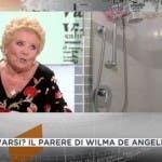 Tg4, Wilma De Angelis lavarsi