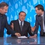 In Onda, Silvio Berlusconi con Luca Telese e David Parenzo