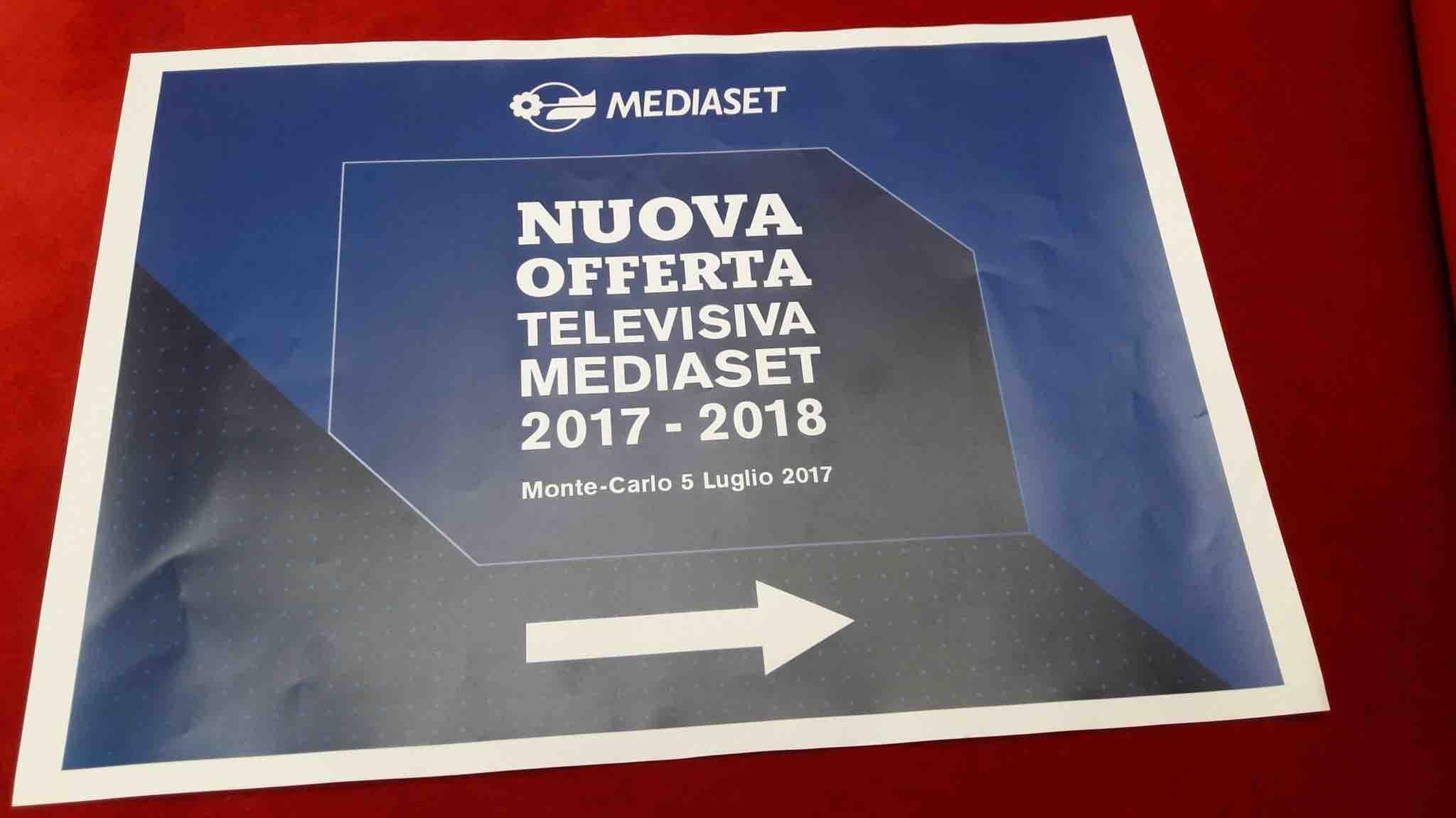 Palinsesti Mediaset 2017/2018