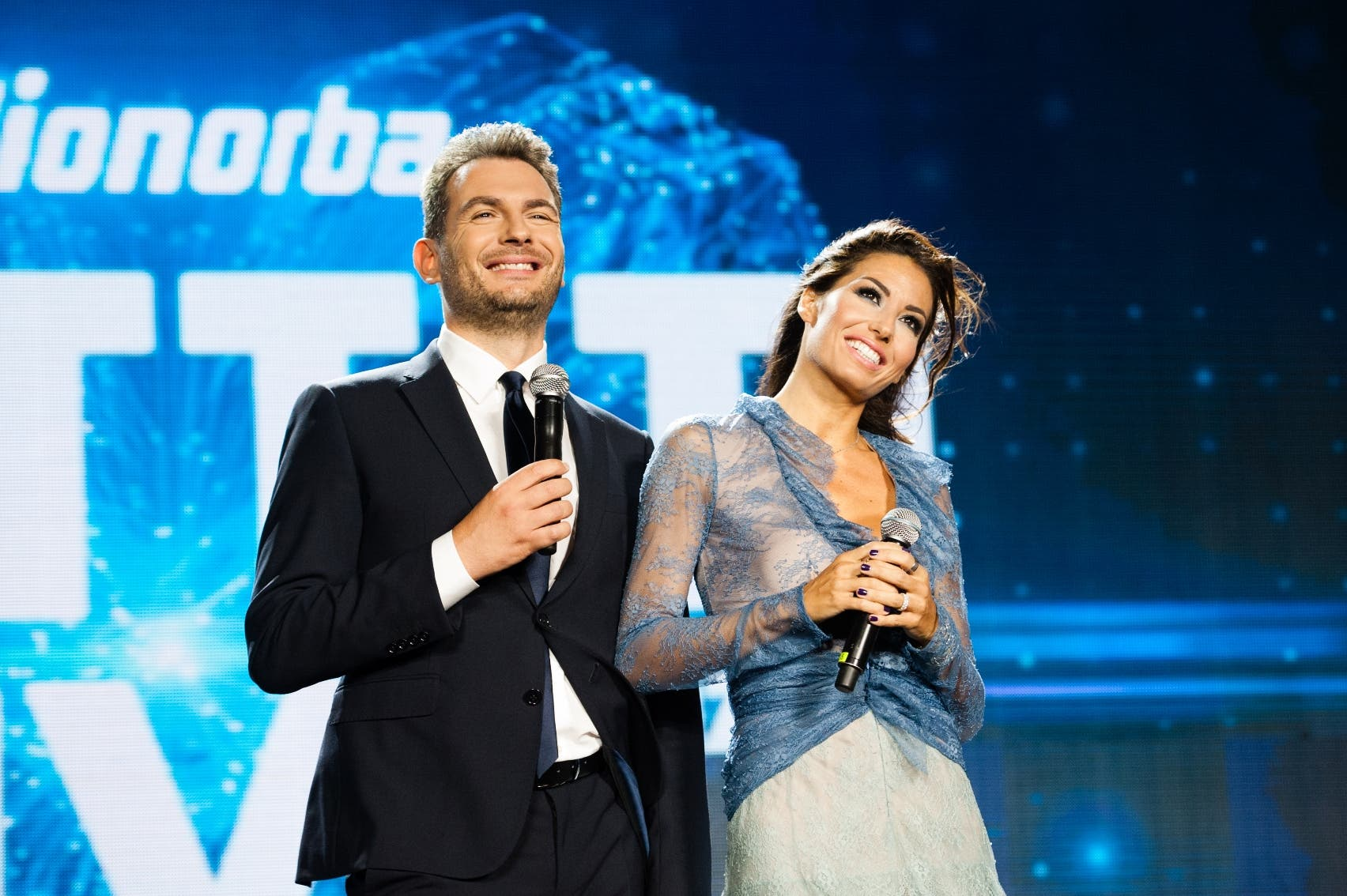 Alan Palmieri ed Elisabetta Gregoraci - Battiti Live 2017
