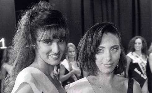 Rosangela Bessi (Miss Italia 1990) e Pina Siracusa (Miss Coraggio)