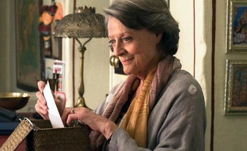 Maggie Smith in Marigold Hotel